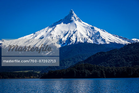 Puntiagudo Volcano, Lake Todos los Santos, Parque Nacional Vicente Perez Rosales, Patagonia, Chile Stock Photo - Rights-Managed, Image code: 700-07202713