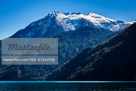 Scenic view of mountains and lake, Lake Todos los Santos, Parque Nacional Vicente Perez Rosales, Patagonia, Chile Stock Photo - Rights-Managed, Image code: 700-07202718