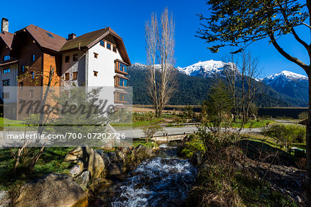 Hotel Puella, Peulla, Parque Nacional Vicente Perez Rosales, Patagonia, Chile Stock Photo - Rights-Managed, Image code: 700-07202726