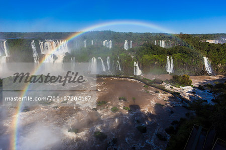 Scenic view of Iguacu Falls with rainbow, Iguacu National Park, Parana, Brazil Stock Photo - Rights-Managed, Image code: 700-07204167