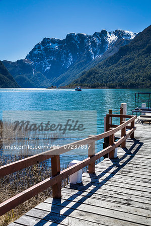 Close-up of Jetty and lake at Puerto Frias, Nahuel Huapi National Park (Parque Nacional Nahuel Huapi­), Argentina Stock Photo - Rights-Managed, Image code: 700-07237897