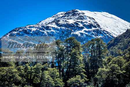 View of mountain top, The Andes Mountains at Nahuel Huapi National Park (Parque Nacional Nahuel Huapi­), Argentina Stock Photo - Rights-Managed, Image code: 700-07237906