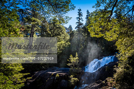 Scenic view of Cascada Los Cantaros, Nahuel Huapi National Park (Parque Nacional Nahuel Huapi­), Argentina Stock Photo - Rights-Managed, Image code: 700-07237919