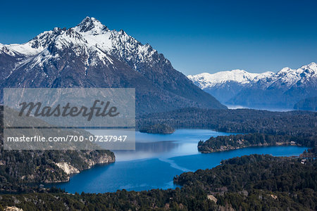 Scenic overview of Bariloche and the Andes Mountains, Nahuel Huapi National Park (Parque Nacional Nahuel Huapi­), Argentina Stock Photo - Rights-Managed, Image code: 700-07237947