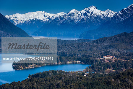 Scenic overview of Bariloche and the Andes Mountains, Nahuel Huapi National Park (Parque Nacional Nahuel Huapi­), Argentina Stock Photo - Rights-Managed, Image code: 700-07237948
