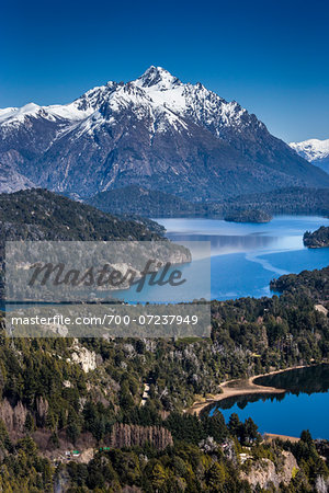 Scenic overview of Bariloche and the Andes Mountains, Nahuel Huapi National Park (Parque Nacional Nahuel Huapi­), Argentina Stock Photo - Rights-Managed, Image code: 700-07237949