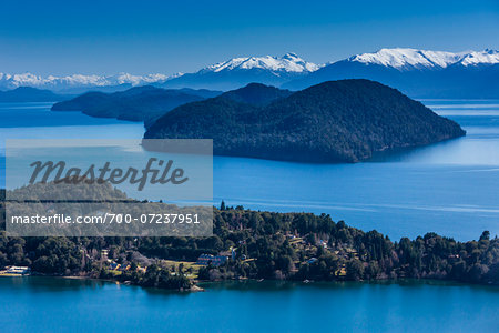 Scenic overview of Bariloche and the Andes Mountains, Nahuel Huapi National Park (Parque Nacional Nahuel Huapi­), Argentina Stock Photo - Rights-Managed, Image code: 700-07237951