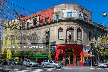 Buildings and street scene, Palermo, Buenos Aires, Argentina Stock Photo - Rights-Managed, Image code: 700-07237961