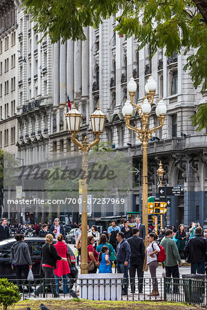People on street, Plaza de Mayo, Buenos Aires, Argentina Stock Photo - Rights-Managed, Image code: 700-07237969