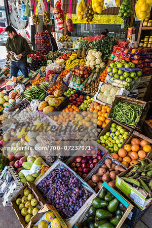 Fruits and vegetables on displayed at market, Buenos Aires, Argentina Stock Photo - Rights-Managed, Image code: 700-07237971