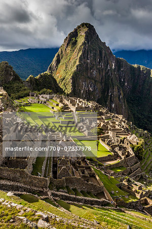 Scenic overview of Machu Picchu, Peru Stock Photo - Rights-Managed, Image code: 700-07237978