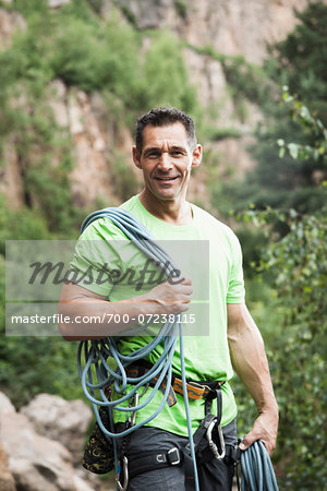 Mature Man Rock Climbing, Schriesheim, Baden-Wurttemberg, Germany Stock Photo - Rights-Managed, Image code: 700-07238115