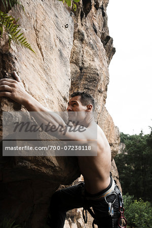 Mature Man Rock Climbing, Schriesheim, Baden-Wurttemberg, Germany Stock Photo - Rights-Managed, Image code: 700-07238118