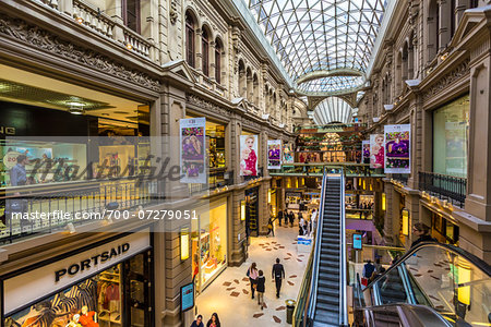 Overview of Galerias Pacifico shopping centre, Buenos Aires, Argentina Stock Photo - Rights-Managed, Image code: 700-07279051