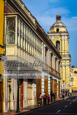View of Ancash Street in downtown Lima, Peru Stock Photo - Rights-Managed, Image code: 700-07279064