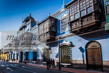 Osambela House, Conde de Superunda Street, Lima, Peru Stock Photo - Rights-Managed, Image code: 700-07279066