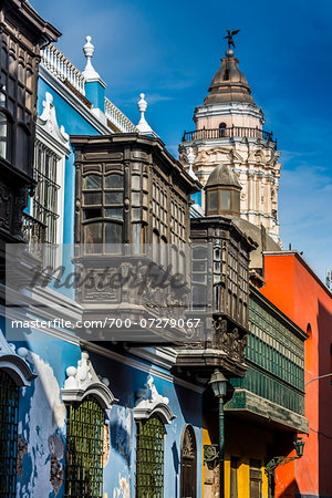 Osambela House, Conde de Superunda Street, Lima, Peru Stock Photo - Rights-Managed, Image code: 700-07279067