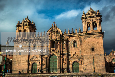 Facade of Cathedral of Santo Domingo, Cusco, Peru Stock Photo - Rights-Managed, Image code: 700-07279073