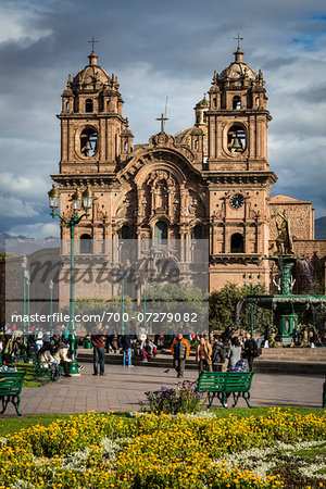 Church of the Society of Jesus, Plaza de Armas, Cusco, Peru Stock Photo - Rights-Managed, Image code: 700-07279082