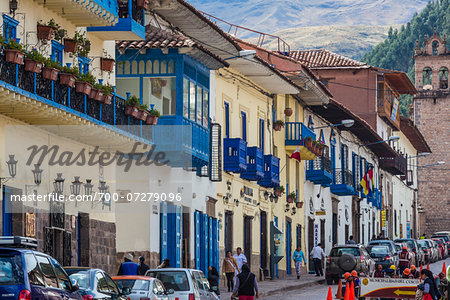 Street scene, Cusco, Peru Stock Photo - Rights-Managed, Image code: 700-07279096