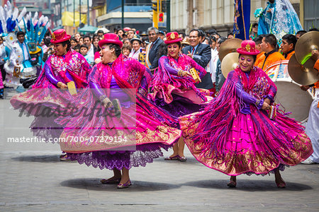 Dancers at Religious Festival Procession, Lima, Peru Stock Photo - Rights-Managed, Image code: 700-07279154