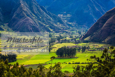 Farmland, Zuleta, Imbabura Province, Ecuador Stock Photo - Rights-Managed, Image code: 700-07279309