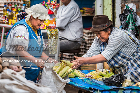 Corn for Sale in Food Market, Otavalo, Imbabura Province, Ecuador Stock Photo - Rights-Managed, Image code: 700-07279327