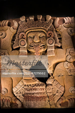 Artifact in Templo Mayor Museum, Mexico City, Mexico Stock Photo - Rights-Managed, Image code: 700-07279502