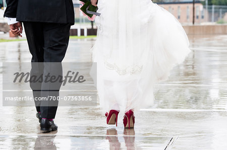 Bride and Groom Walking away from Camera Stock Photo - Rights-Managed, Image code: 700-07363856