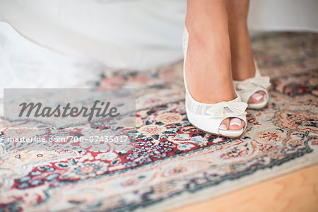 Close-up of Bride's Feet, Toronto, Ontario, Canada Stock Photo - Rights-Managed, Image code: 700-07435017