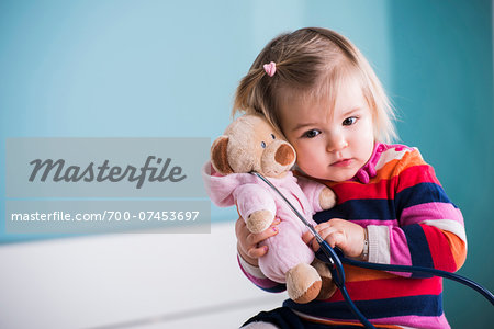 Portrait of Baby Girl in Doctor's Office Stock Photo - Rights-Managed, Image code: 700-07453697