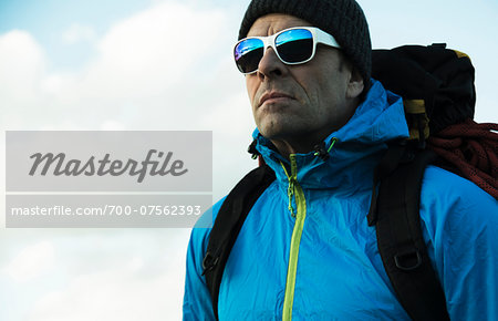 Portrait of Mountaineer, Mannheim, Baden-Wurttemberg, Germany Stock Photo - Rights-Managed, Image code: 700-07562393