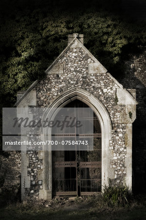 Derelict overgrown church, Norfolk, England. Stock Photo - Rights-Managed, Image code: 700-07584743