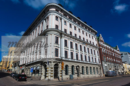 Facade of building in the National Romantic style, Design District Helsinki, Helsinki, Finland Stock Photo - Rights-Managed, Image code: 700-07760121
