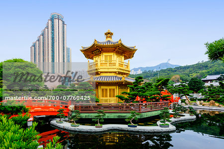 Pavillion of Absolute Perfection, Nan Lian Garden, Chi Lin Nunnery, Diamond Hill, Kowloon, Hong Kong, China Stock Photo - Rights-Managed, Image code: 700-07760425