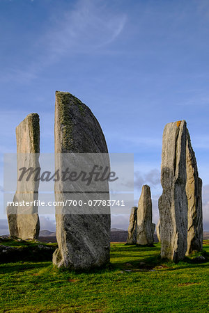 Callanish Stone Circle, a famous neolithic monument located on the Isle of Lewis in the chain of islands known as the Outer Hebrides, Scotland Stock Photo - Rights-Managed, Image code: 700-07783741