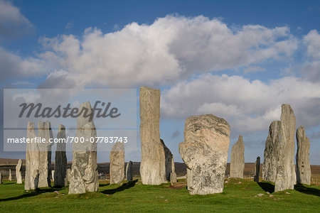 Callanish Stone Circle, a famous neolithic monument located on the Isle of Lewis in the chain of islands known as the Outer Hebrides, Scotland Stock Photo - Rights-Managed, Image code: 700-07783743