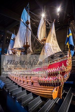 Close-up of ship, Vasa Museum, Stockholm, Sweden Stock Photo - Rights-Managed, Image code: 700-07783841