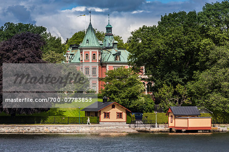 Building and boathouse, waterfront, Stockholm, Sweden Stock Photo - Rights-Managed, Image code: 700-07783853
