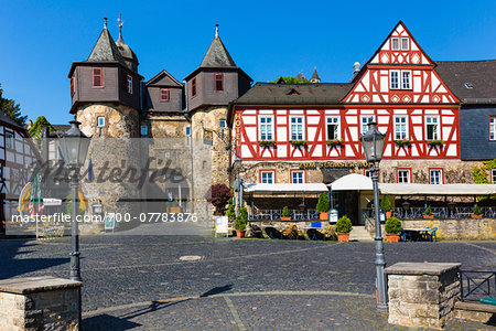 Street scene with old, half-timbered houses in the old town, Braunfels, Lahn-Dill County, Hesse, Germany Stock Photo - Rights-Managed, Image code: 700-07783876