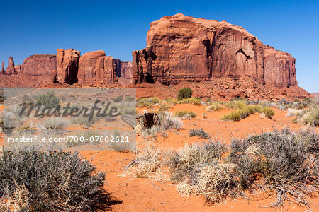 Rock foramtions and landscape, Monument Valley, Arizona, USA Stock Photo - Rights-Managed, Image code: 700-07802621