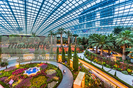Overview of the Flower Dome, Gardens by the Bay, Singapore Stock Photo - Rights-Managed, Image code: 700-07802660