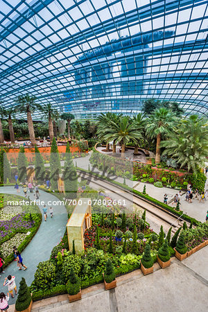 Overview of the Flower Dome, Gardens by the Bay, Singapore Stock Photo - Rights-Managed, Image code: 700-07802661