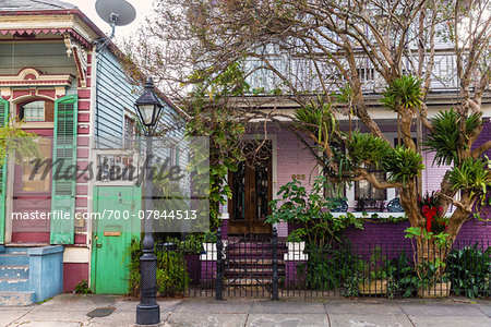 Facade of Purple House, French Quarter, New Orleans, Louisiana, USA Stock Photo - Rights-Managed, Image code: 700-07844513