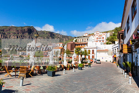Scenic view of the mountain village of Tejeda, Gran Canaria, Las Palmas, Canary Islands Stock Photo - Rights-Managed, Image code: 700-07849644