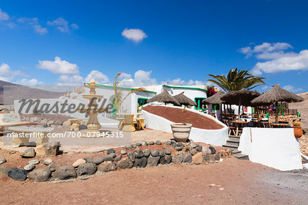 Restaurant nearby Playa Papagayo, Lanzarote, Las Palmas, Canary Islands Stock Photo - Rights-Managed, Image code: 700-07945315