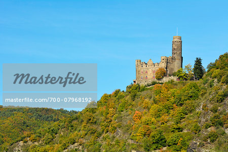 Castle Maus, Sankt Goarshausen, Loreley, Rhine Valley, Rhein-Lahn-Kreis, Rhineland-Palatinate, Germany Stock Photo - Rights-Managed, Image code: 700-07968192