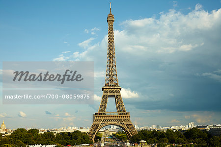 Eiffel Tower and Champ de Mars from Trocadero, Paris, France Stock Photo - Rights-Managed, Image code: 700-08059875