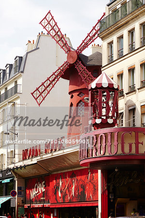 Moulin Rouge, Pigalle, Paris, France Stock Photo - Rights-Managed, Image code: 700-08059903