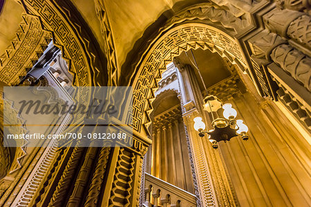 Grand staircase, Penrhyn Castle, Llandegai, Bangor, Gwynedd, Wales, United Kingdom Stock Photo - Rights-Managed, Image code: 700-08122088